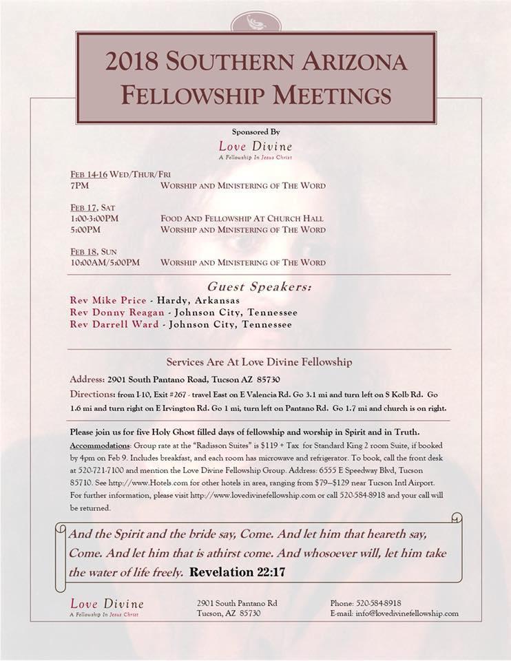 2018 Meetings Flyer